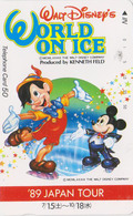Télécarte NEUVE Japon / 110-011 - DISNEY - WORLD ON ICE -  PINOCCHIO & MICKEY ** 89 JAPAN TOUR **  - MINT Phonecard - Disney
