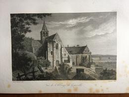 (Normandie) Abbaye De Graville, Prés Du Havre. Gravure Sur Acier De 1840. - Normandie