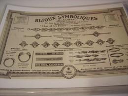 ANCIENNE AFFICHE PUBLICITE BIJOUX SYMBOLIQUES DE AUGIS - Bijoux & Horlogerie