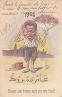 CPA  Bonne Année 1906  Illustrateur ASSUS  Humour - Künstlerkarten