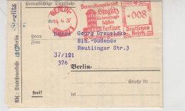Freistempel Der Stadtsteuerkasse Steglitz Aus Berlin-Steglitz 14.4.37 War Gefaltet - Germany