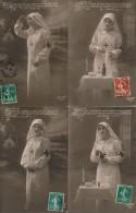 CPA MILITARIA WW1 Lot De 4 Cartes Hommage Dévouement Infirmières Sur Le Front - Guerre 1914-18