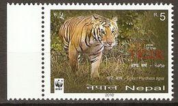 Nepal 2010    WWF  YEAR OF THE TIGER   1v  MNH ** - W.W.F.