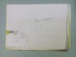 Très Grand Plan De La Gare De Limoges Vers 1925 Adressé à FRAISSE Entrepreneur Albi 81 - Old Paper