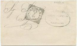 1891 ANNULLO TONDO RIQUADRATO Di CAMPAGNA (SALERNO) PIEGO FRANCHIGIA 23.7.91  A SICIGNANO (8213) - 1878-00 Umberto I