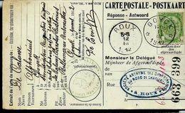 Doc. De GOYCK  1912  + Obl: Roux - Postmark Collection