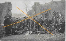 LESSINES Carte Photo Ouvriers Carriers (ancien Pont De La Rue Des Blanchisseries) - Lessines
