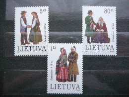 Costumes Of Zemaiciai # Lietuva Lithuania Litauen Lituanie Litouwen 1994 MNH # Mi. 557/9 - Lithuania