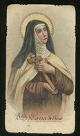 SANTA  TERESA DI GESU - ANTICO SANTINO - HOLY CARD (10) - Devotieprenten