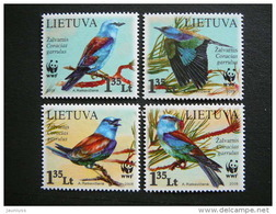 European Roller. Birds # Lietuva Litauen Lituanie Litouwen Lithuania 2008 MNH # Mi. 984/7 WWF. - Lithuania