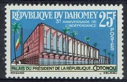 Dahomey (Benin), Independence, 3rd Anniversary, 1963, MNH VF - Benin - Dahomey (1960-...)