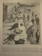 1913 La Guerre Civile  Au Mexique  Bataille De Juarez  Convoi D Insurgés Revolution Pancho Villa  Huerta - Vieux Papiers