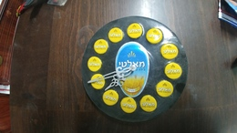 Israel-wall Clock On Battery-malat Black Beer-(4)-good Payler - Bijoux & Horlogerie
