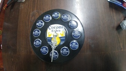 Israel-wall Clock On Battery-corona Extra Beer-(5)-good Payler - Autres