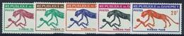 Dahomey (Benin), Postage Due, 1963, MNH VF  Complete Set Of 5 - Benin - Dahomey (1960-...)