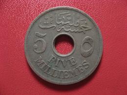 Egypte - 5 Millieme 1917 4536 - Egypt