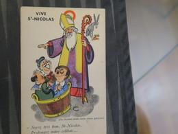 TI -   VIVE ST NICOLAS  - ILLUSTRATEUR JEAN NAU - Ils étaient Trois Vieux Garçons - Soyez Bon St Nicolas  - Aidez Nous à - Saint-Nicolas
