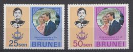 Brunei 1973  Mi.nr.:184-185 Hochzeit Von......  Neuf Sans Charniere /MNH / Postfris - Brunei (1984-...)