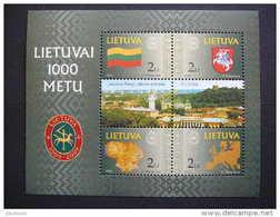 1000th Anniversary Of Lithuania # Lietuva Litauen Lituanie Litouwen 2001 MNH # Mi. 762/5 Block 22 - Lithuania
