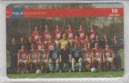 DENMARK 1998 FOOTBALL NATIONAL TEAM USED PHONE CARD - Sport