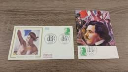FRANCE CEF Enveloppe + Carte Maximum 1er Jour MARIANNE REPUBLIQUE TYPE LIBERTE 1987 Collection Timbre Poste - FDC