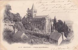 76. GRAVILLE. CPA. L'EGLISE SAINTE HONORINE. ANNÉE 1903 - France