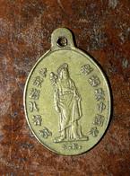 """Pendentif Médaille Religieuse """"Mission Coloniale En Chine Et Indochine St Joseph, Marie Et Jésus Christ"""" Religious Medal - Religion & Esotérisme"""