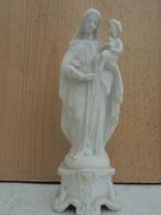 """Ancienne Sainte Vierge En """"biscuit""""?. Hauteur  20cm. Epoque Indéterminée. - Religion & Esotérisme"""