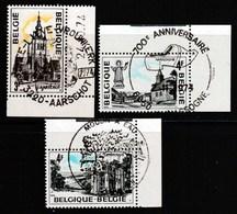 Belgique - Timbres De 1974 Yvert 1729 / 1731 - COB 1734 / 1736 1er Jour Bord De Feuille - Belgique
