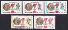 YEMEN ROYAUME AERIENS N°  102 ** MNH Neufs Sans Charnière, 5 Valeurs, TB (D4696) Médaillés OR Aux JO Mexico - Yemen