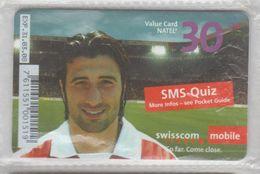 SWITZERLAND SCHWEIZ SUISSE 2008 FOOTBALL MURAT YAKIN USED PHONE CARD - Sport