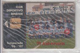 SPAIN 1997 FOOTBALL CLUB DEPORTIVO BINEFAR MINT SEALED PHONE CARD - Sport
