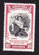 Costa Rica, Scott #C210, Used, Coffee Picker, Issued 1950 - Costa Rica
