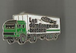 Pin's Les Déménageurs Bretons - Transportation