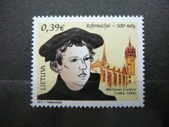 Religion: Refomation - 500. Luther. Church # Lietuva Litauen Lituanie Litouwen Lithuania 2017 MNH Mi. 1234 - Lithuania