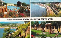 Postcard Greetings From Pontin's Paignton South Devon Holiday Camp Interest My Ref  B11795 - Paignton