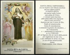 Santino - Santa Rita Da Cascia - Chiesa S. Marco Di Bergamo - Santini