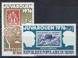 "Benin, ""Juvarouen"", Philatelic Fair, 1976, MNH VF  Airmail  A Pair - Benin - Dahomey (1960-...)"