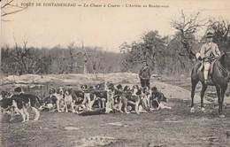 77 - FONTAINEBLEAU - Chasse à Courre En Forêt De Fontainebleau - L' Arrivée Au Rendez Vous - Fontainebleau