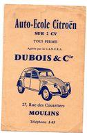 Carte Postale Citroen 2 CV  Convocation Auto Ecole - Toerisme