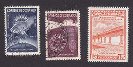 Costa Rica, Scott #C247, C250, C258, Used/Mint Hinged, Rotary Club, Inn, Issued 1956-57 - Costa Rica