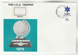 1979 ISRAEL  ICC CRICKET Sport MATCH  EVENT COVER Stamps - Cricket