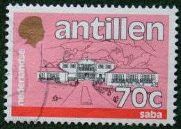 70 Ct Standaardserie NVPH 887 1988 Gestempeld / Used NEDERLANDSE ANTILLEN NETHERLANDS ANTILLES - Curaçao, Nederlandse Antillen, Aruba