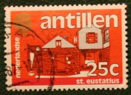 25 Ct Standaardserie NVPH 759 1983 Gestempeld / Used NEDERLANDSE ANTILLEN NETHERLANDS ANTILLES - Curaçao, Nederlandse Antillen, Aruba