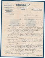 PORTUGAL OLD DOCUMENT 1937 - SPECIAL PENETRATING OIL- THE PENNZOIL COMPANY - LISBOA - ESTORIL - Portugal
