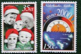 Decemberzegel Christmas Weihnachten NVPH 1296-1297 1999 Gestempeld / Used NEDERLANDSE ANTILLEN NETHERLANDS ANTILLES - Curaçao, Nederlandse Antillen, Aruba