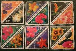 Flora Bloemen Blumen Flowers Fleurs NVPH 1284-1295 1999 Gestempeld / USED NEDERLANDSE ANTILLEN / NETHERLANDS ANTILLES - Curaçao, Nederlandse Antillen, Aruba