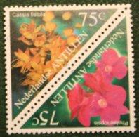 Flora Bloemen Blumen Flowers Fleurs NVPH 1290-1291 1999 Gestempeld / USED NEDERLANDSE ANTILLEN / NETHERLANDS ANTILLES - Curaçao, Nederlandse Antillen, Aruba
