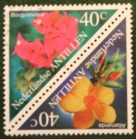 Flora Bloemen Blumen Flowers Fleurs NVPH 1284-1285 1999 Gestempeld / USED NEDERLANDSE ANTILLEN / NETHERLANDS ANTILLES - Curaçao, Nederlandse Antillen, Aruba