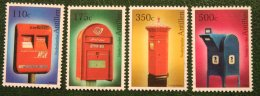 Brievenbussen Mailbox Postfächer NVPH 1323-1326 2000 Gestempeld USED NEDERLANDSE ANTILLEN / NETHERLANDS ANTILLES - Curaçao, Nederlandse Antillen, Aruba